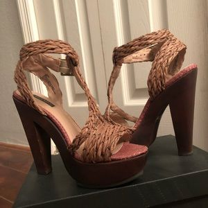 Shoemint Raffia Heels